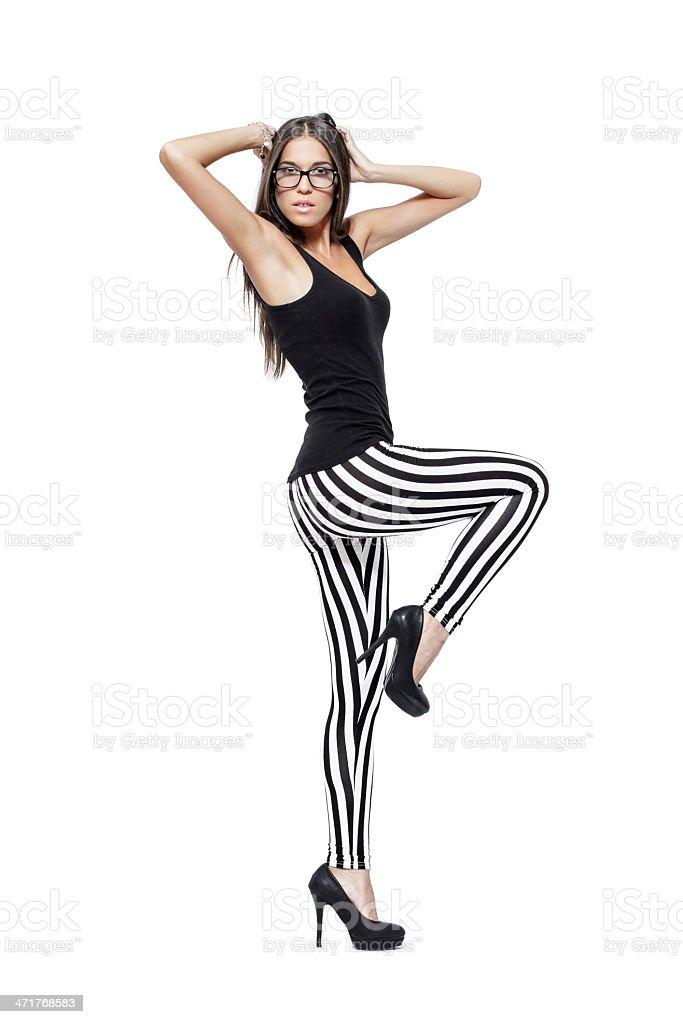Fashion model leg up royalty-free stock photo