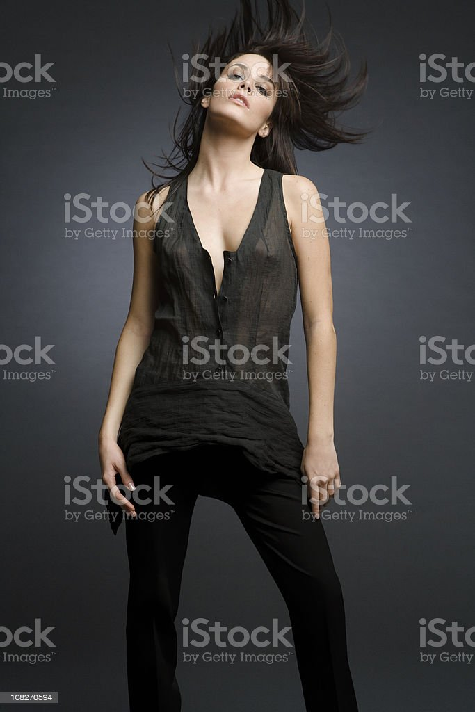Fashion Model On The Move royalty-free stock photo