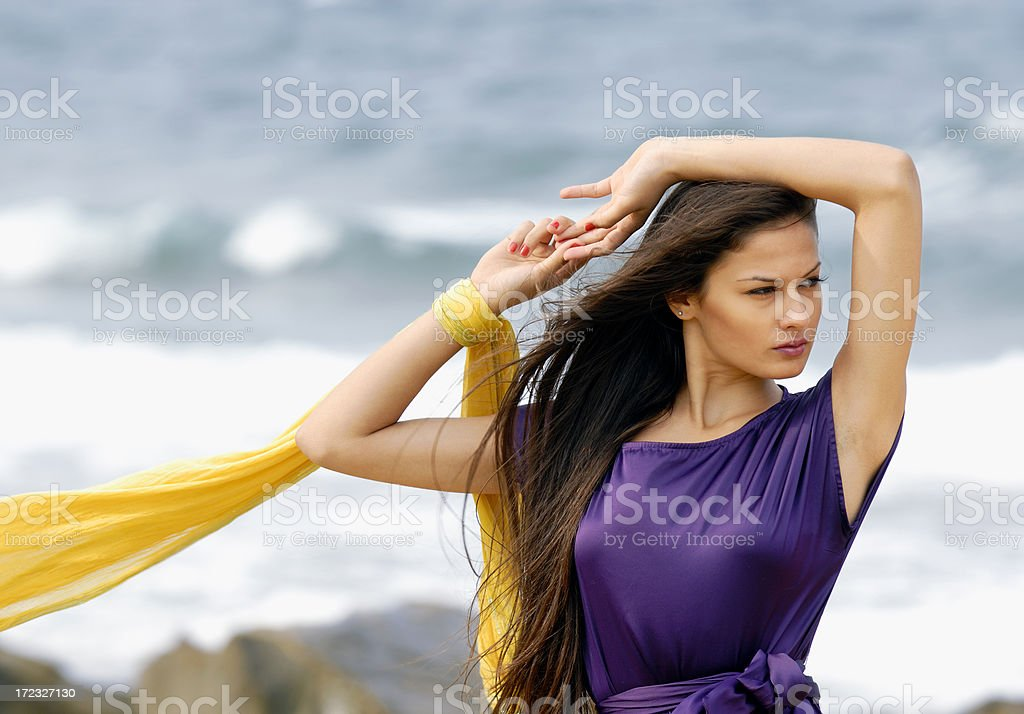 fashion model royalty-free stock photo