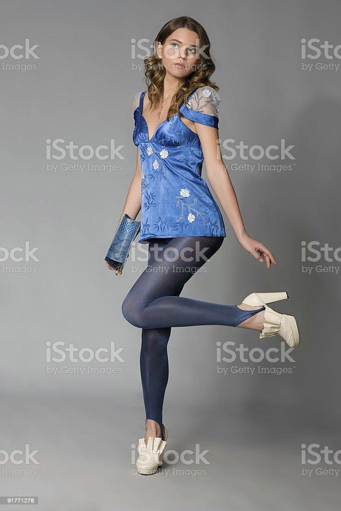 fashion model posing for her portfolio. royalty-free stock photo