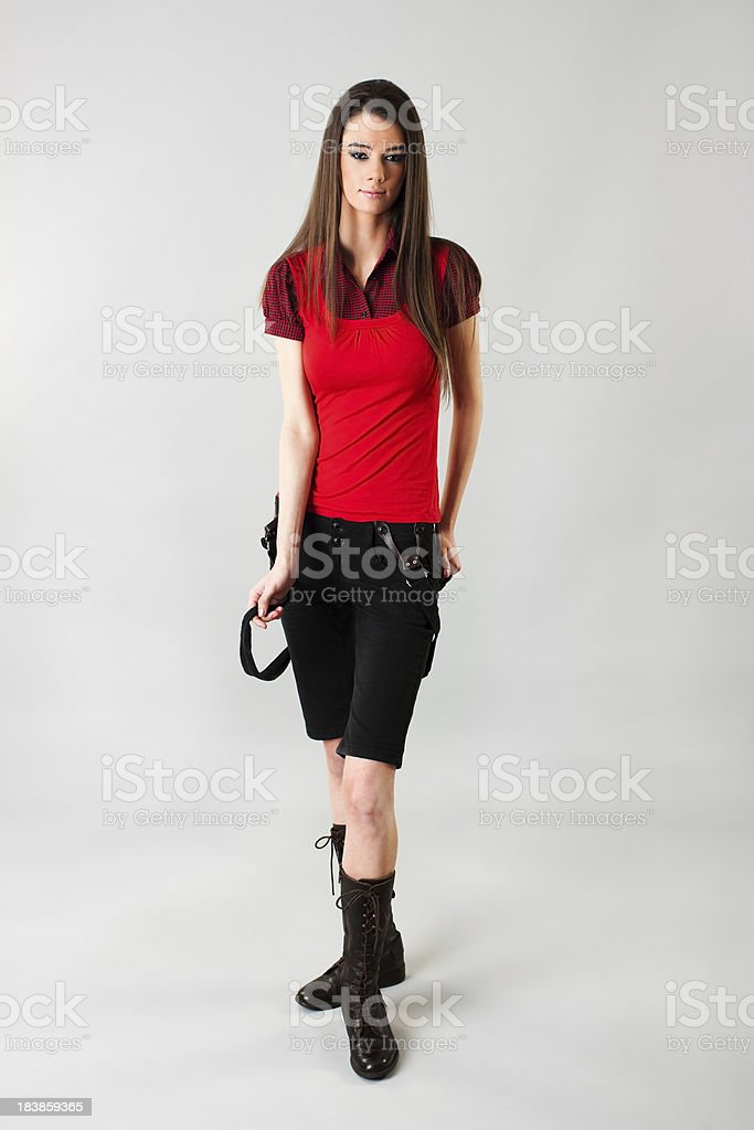 Fashion model posing royalty-free stock photo