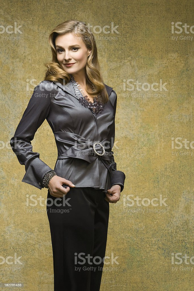 Fashion Model Well-Dressed for Christmas royalty-free stock photo