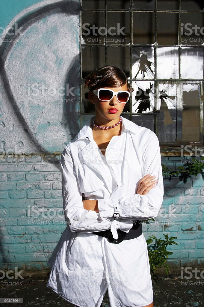 Fashion model with attitude royalty-free stock photo