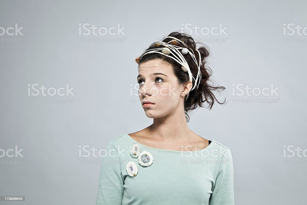 Fashion model with hair ornaments royalty-free stock photo