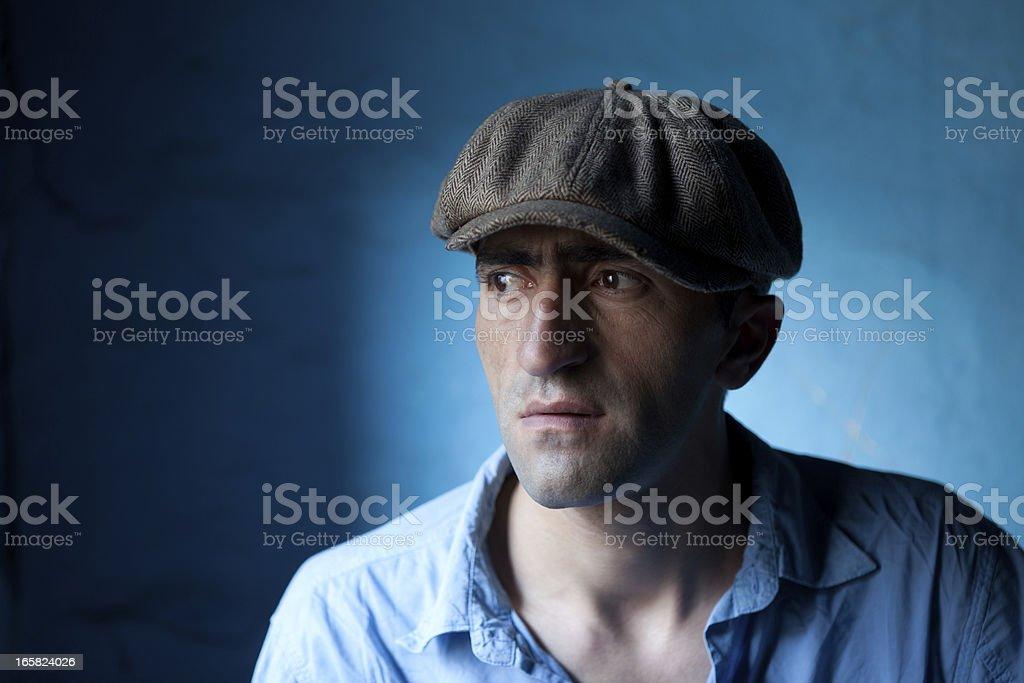 Fashion Model With Newsboy Cap stock photo