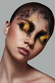 Fashion Model with Powder on her Face