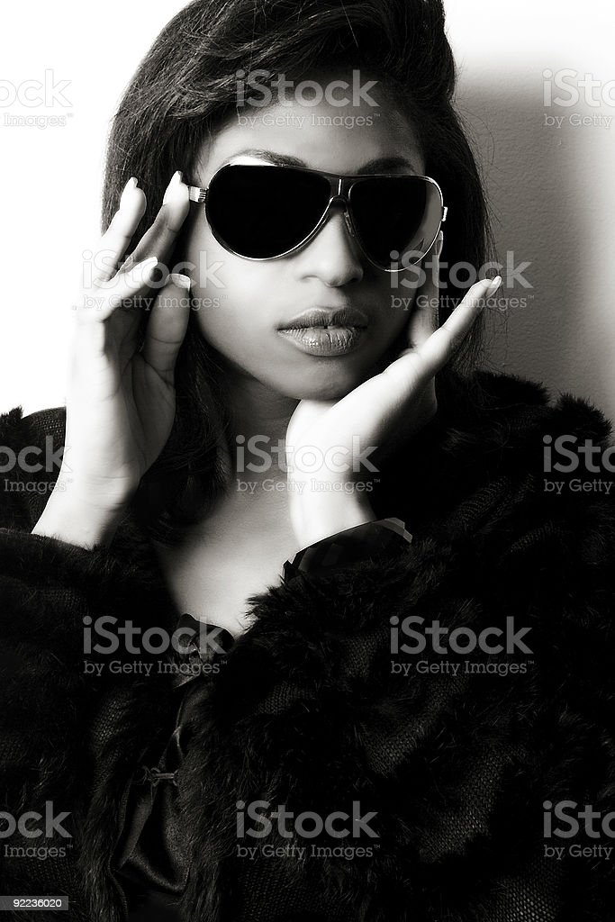 Fashion Model With Sunglasses royalty-free stock photo