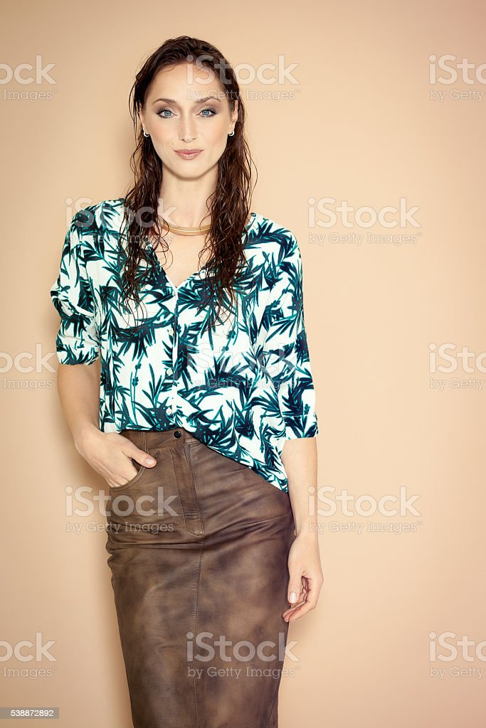 Fashion Model With Wet Hair stock photo