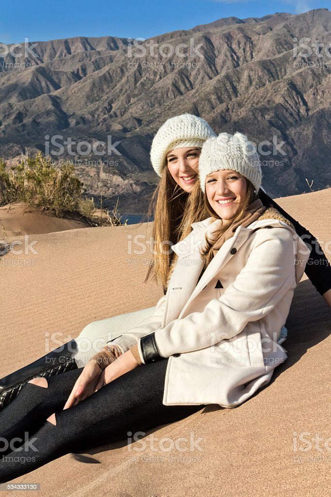 Fashion models in nature stock photo