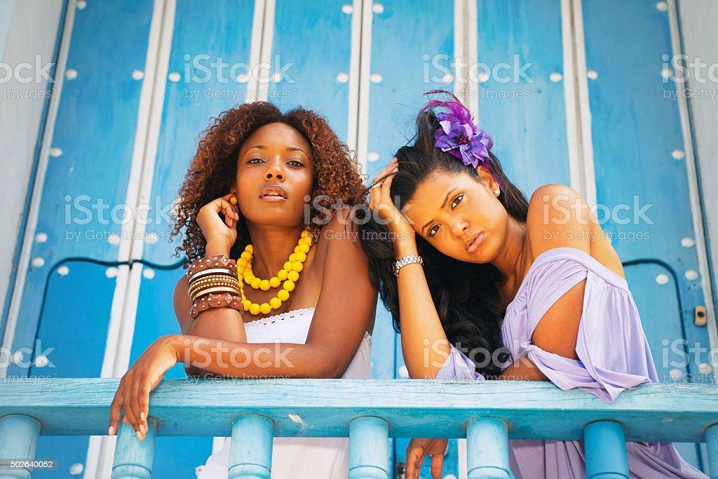 Fashion Models in Trinidad, Cuba stock photo