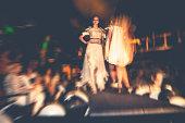 Fashion models on runaway