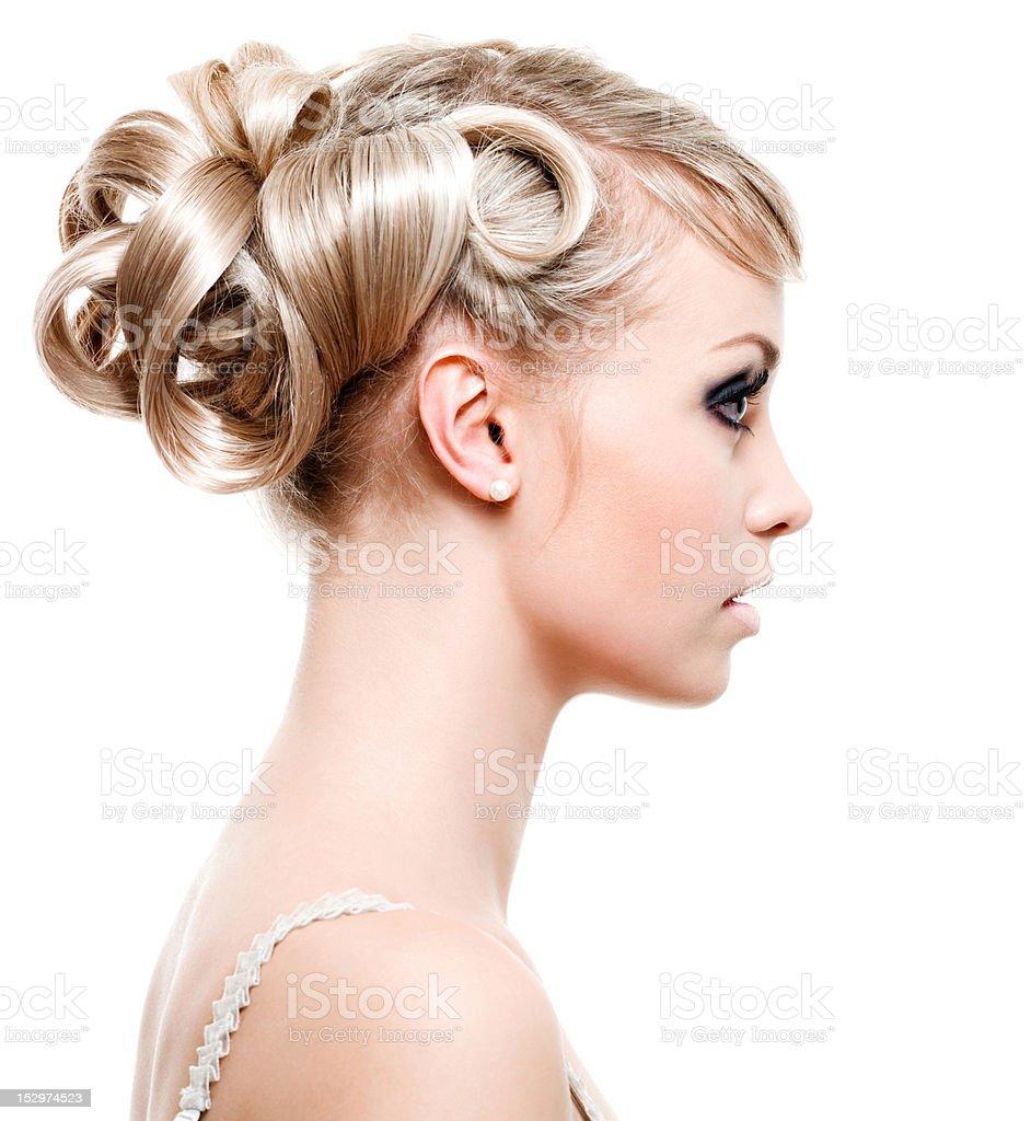 Fashion modern hairstyle stock photo