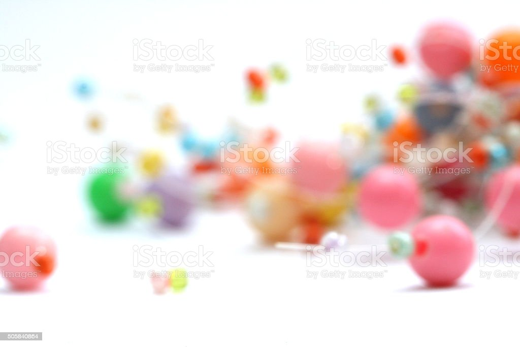 Fashion  necklace beads stock photo
