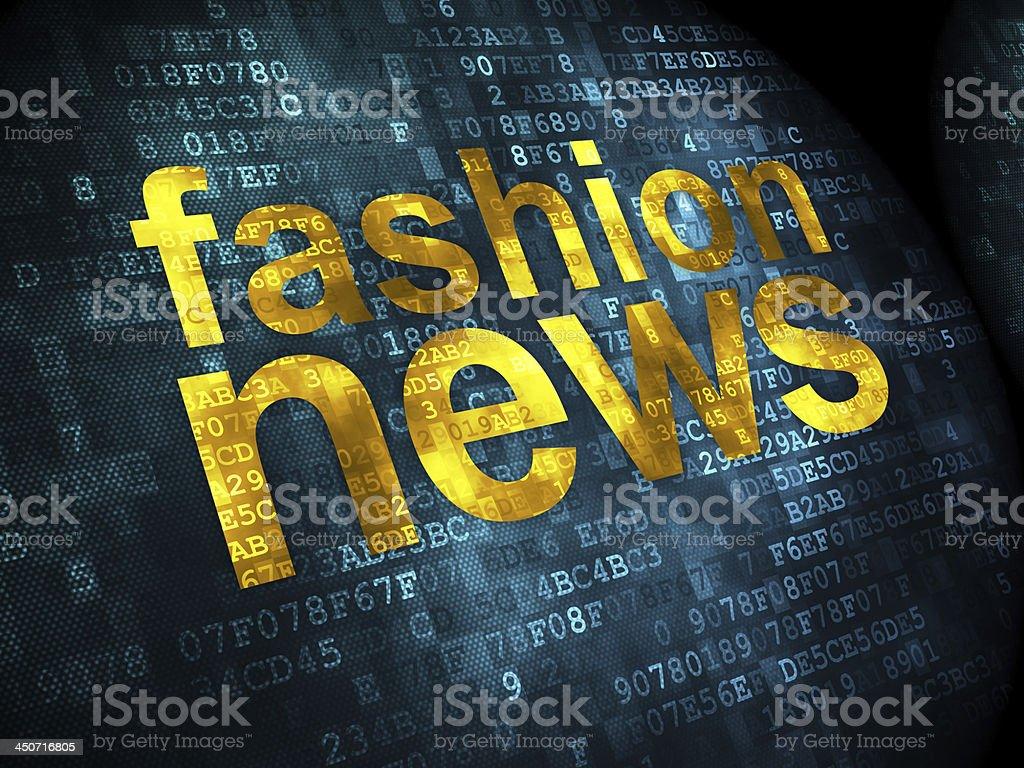 Fashion News on digital background royalty-free stock photo