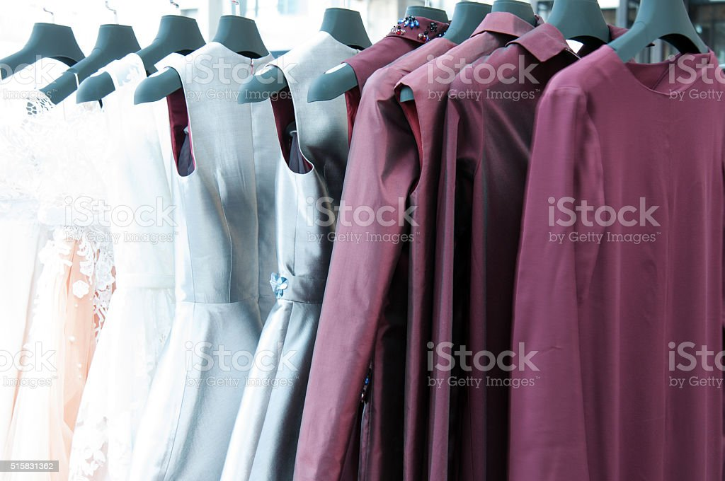 Fashion on a hanger stock photo