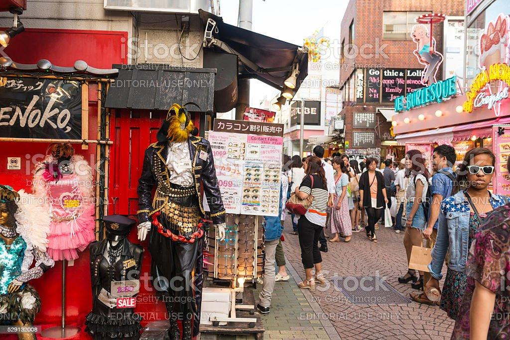 Fashion on Harajuku in Tokyo stock photo