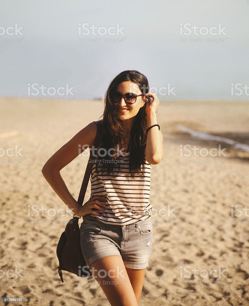 fashion on the beach stock photo