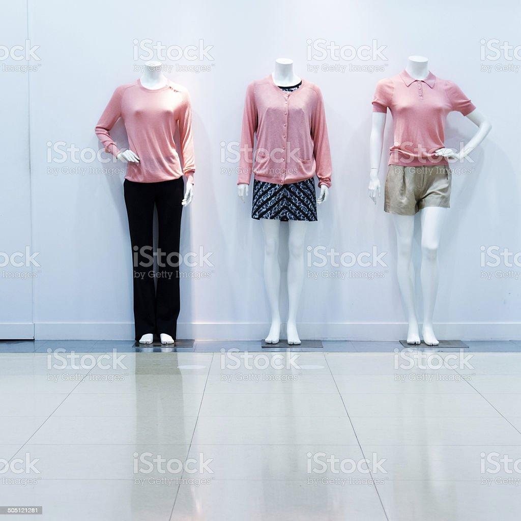 fashion on window model stock photo