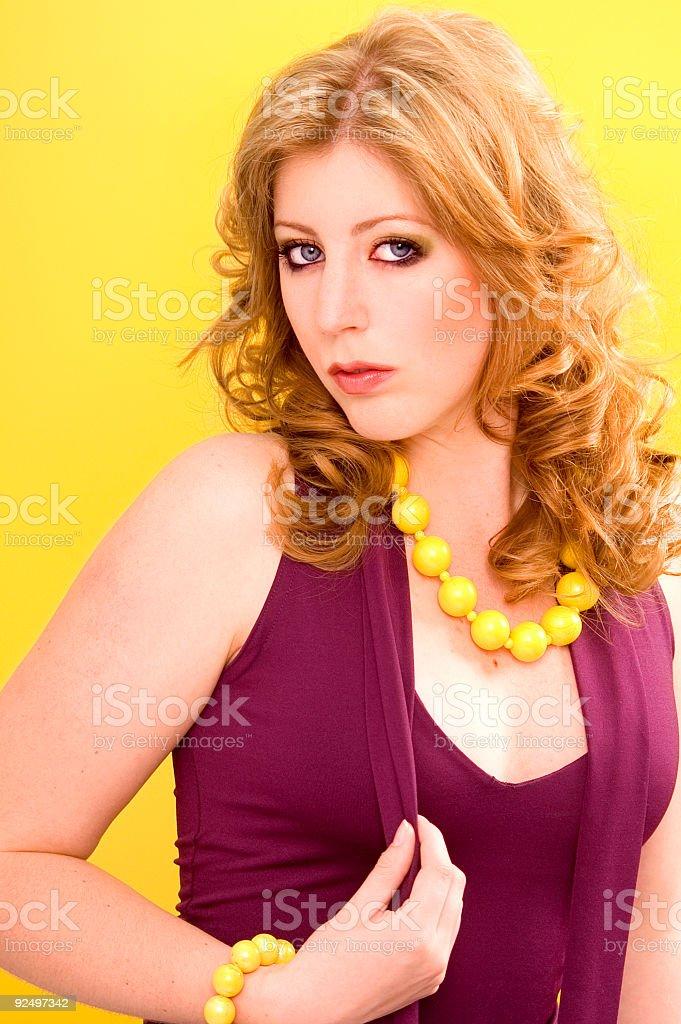 Fashion On Yellow stock photo