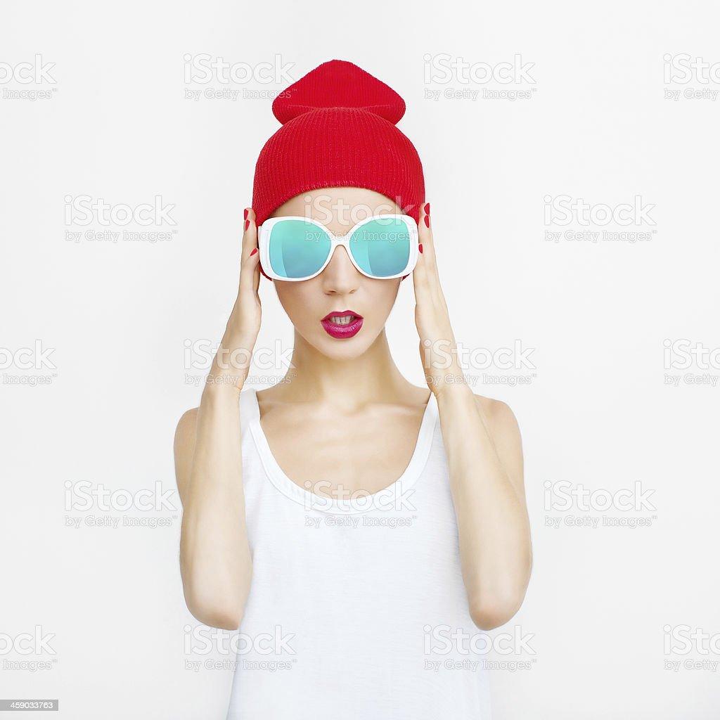 fashion party girl stock photo