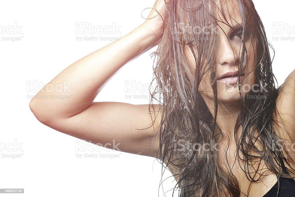 fashion photo of beautiful woman stock photo