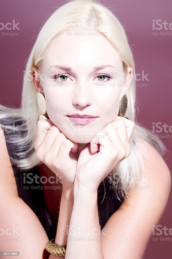 Fashion Portrait In Violet royalty-free stock photo