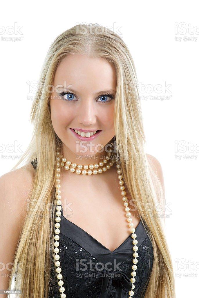 .Fashion portrait of a beautiful blonde girl stock photo
