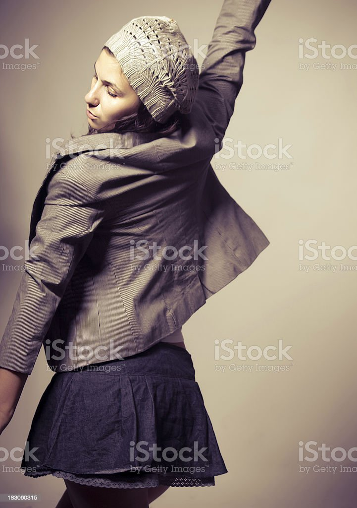Fashion portrait of a beautiful girl royalty-free stock photo