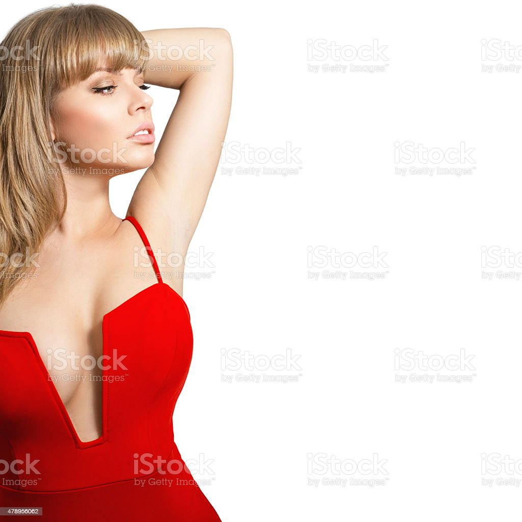 Fashion portrait of a beautiful young sexy woman stock photo
