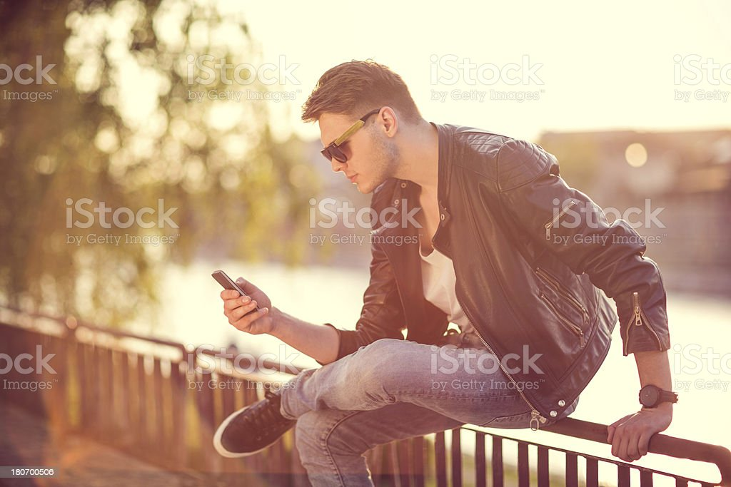 Fashion portrait of a young man royalty-free stock photo