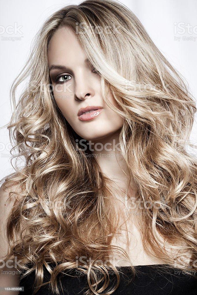Fashion portrait of sexy woman stock photo