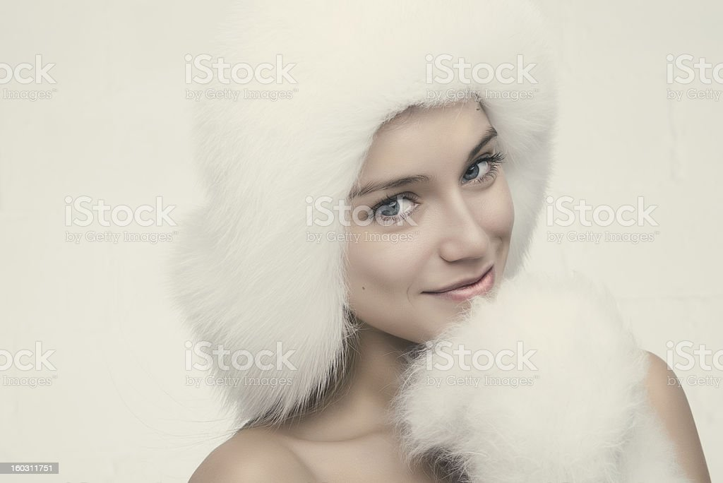 Fashion portrait of young beautiful woman royalty-free stock photo