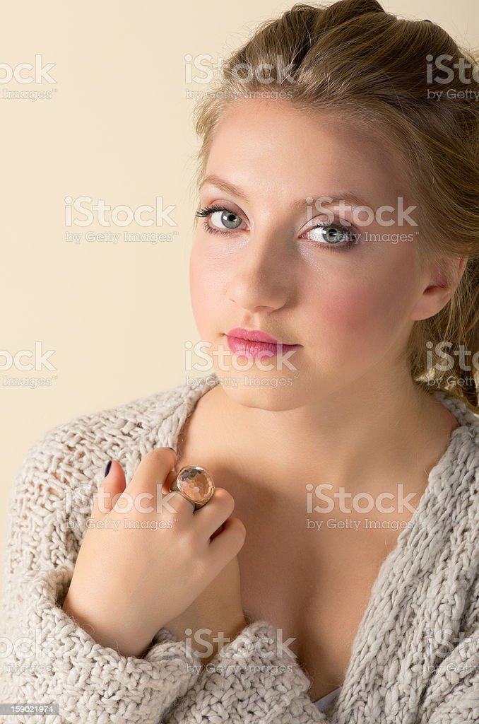 Fashion portrait of young girl royalty-free stock photo