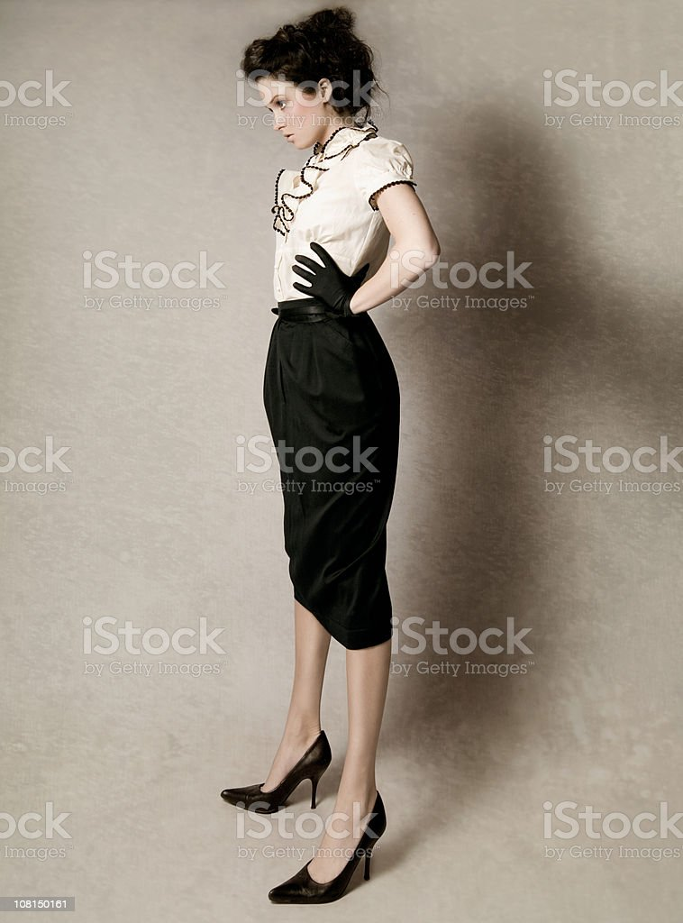 Fashion Portrait  of Young Woman royalty-free stock photo