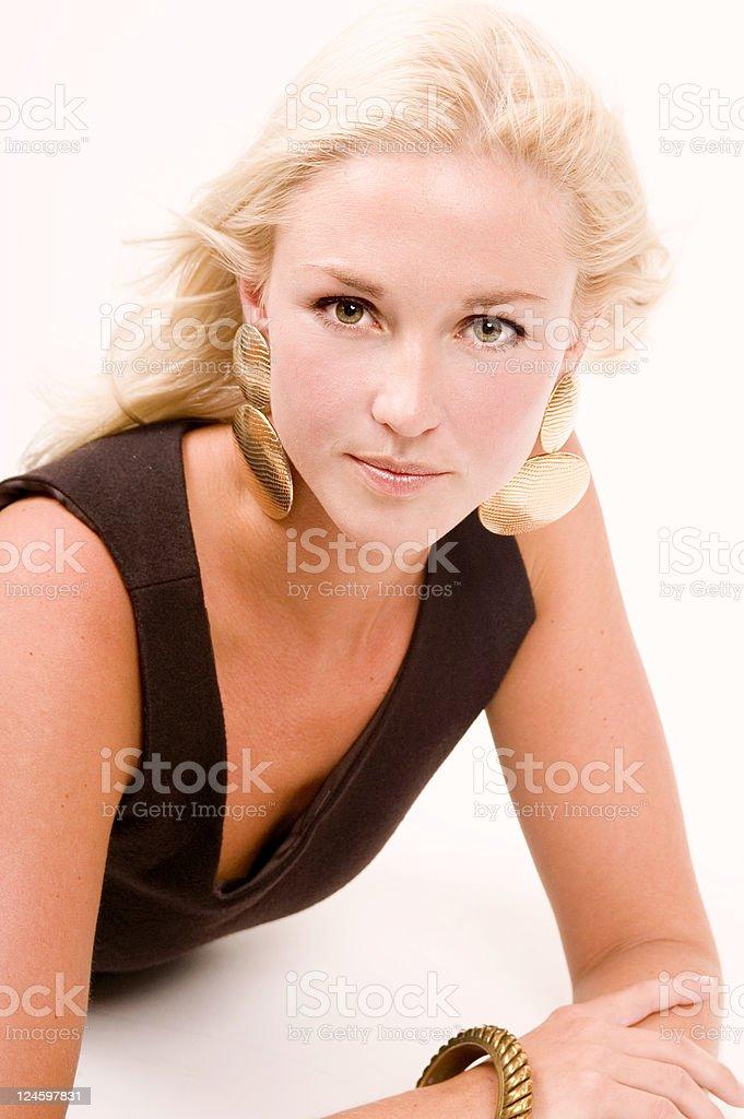 Fashion Portrait On White royalty-free stock photo