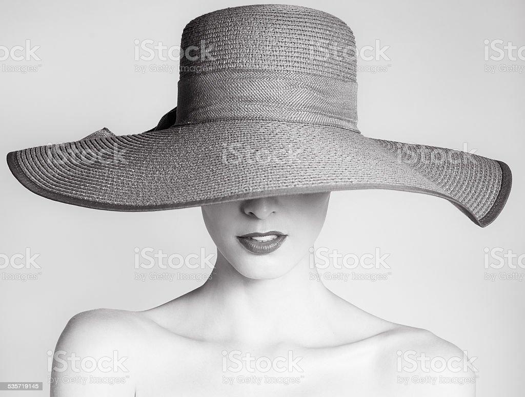 Fashion portrait stock photo