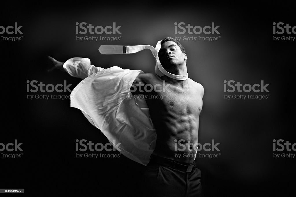 Fashion portrait undress royalty-free stock photo