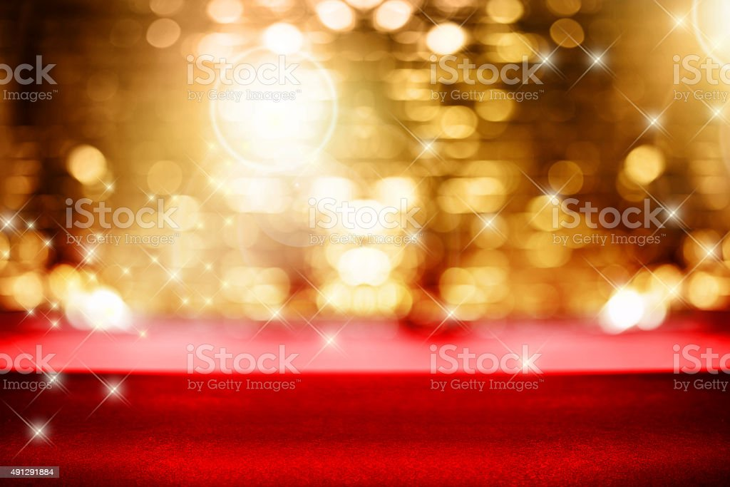 Fashion runway background stock photo