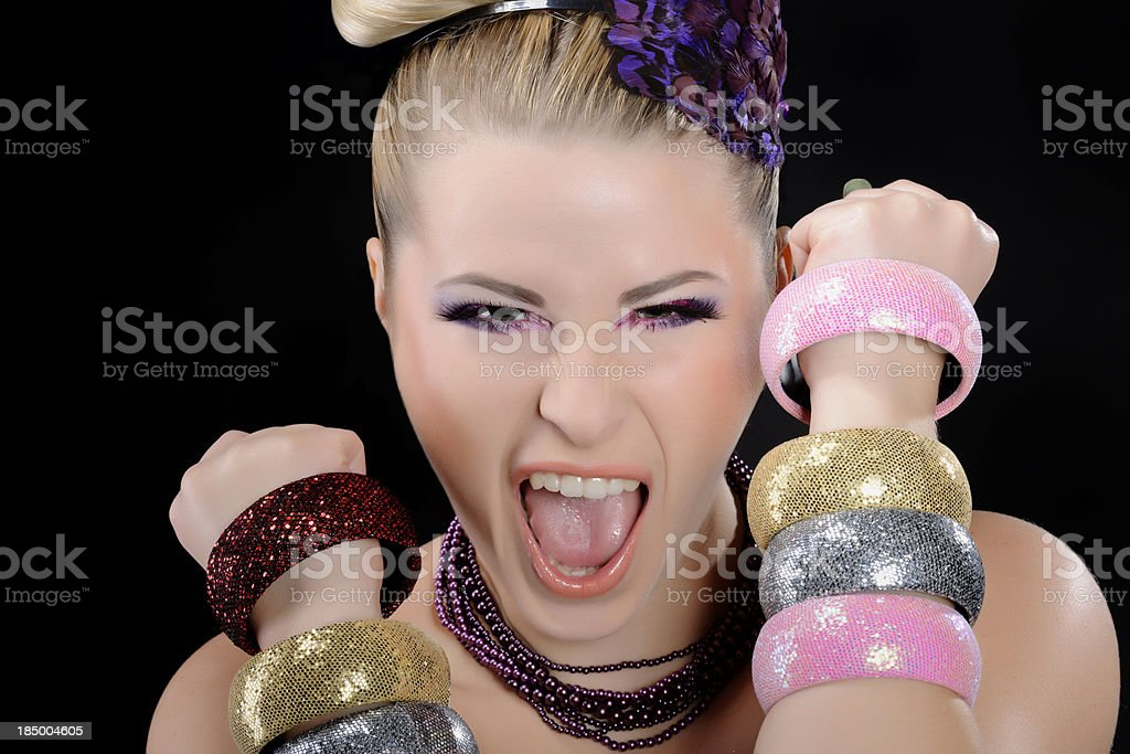 fashion scream royalty-free stock photo