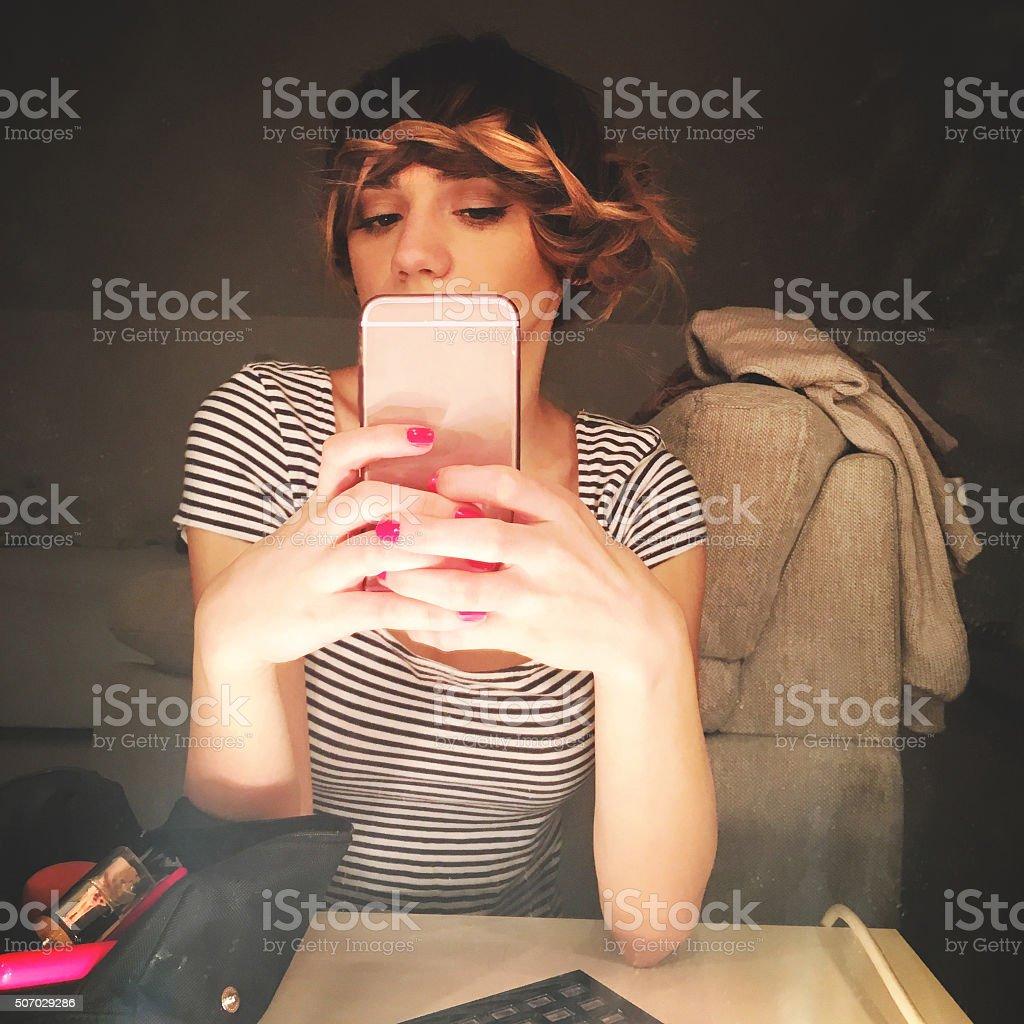 Fashion selfie stock photo