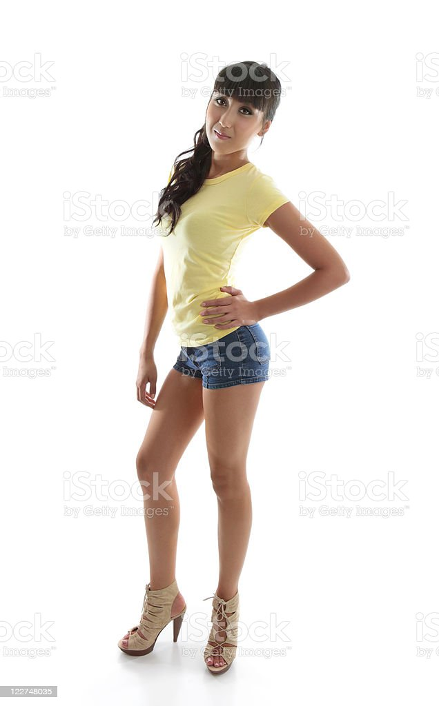 Fashion sexy woman hand on hip royalty-free stock photo