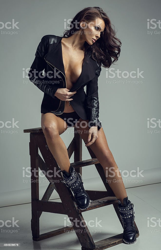 Fashion sexy woman posing stock photo