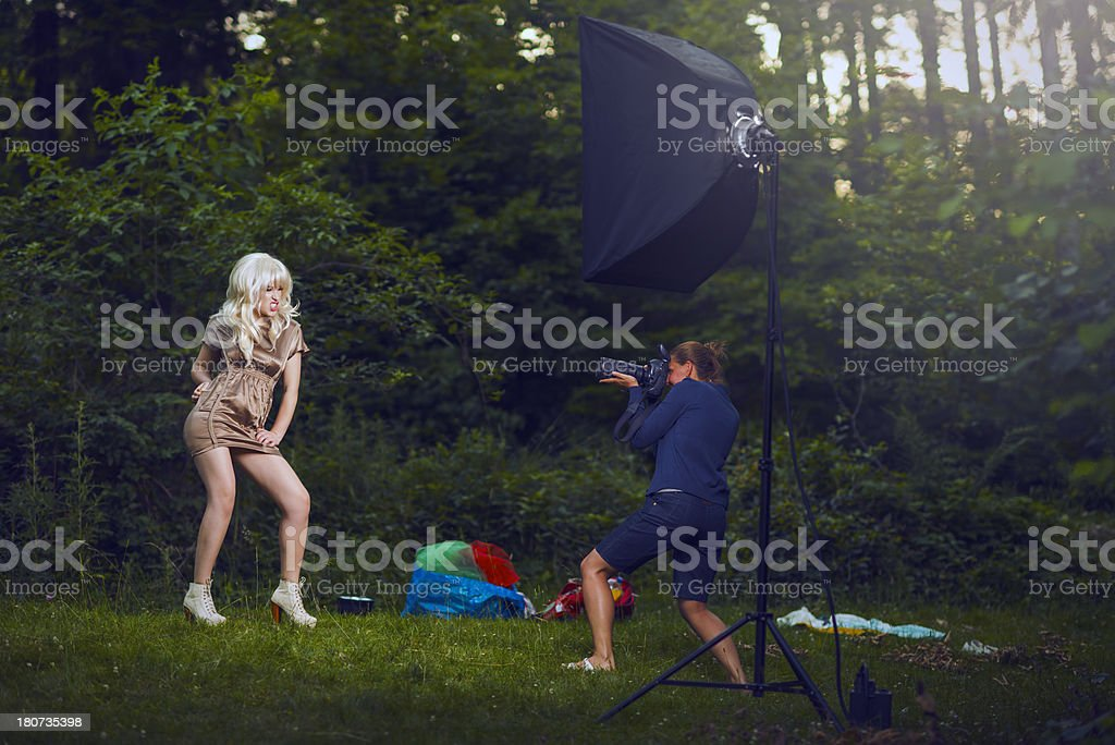 fashion shoot royalty-free stock photo
