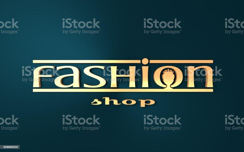 Fashion shop icon design. stock photo