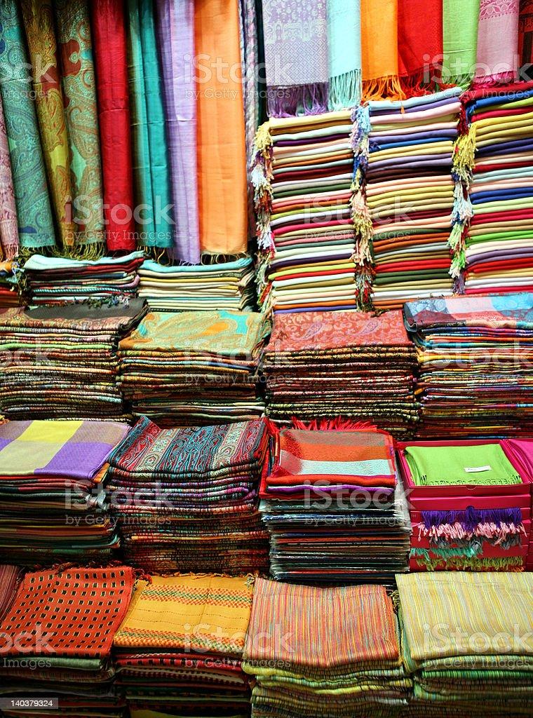 Fashion shop (bazaar in Turkey) royalty-free stock photo