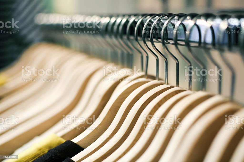 Fashion shopping concept - hangers royalty-free stock photo