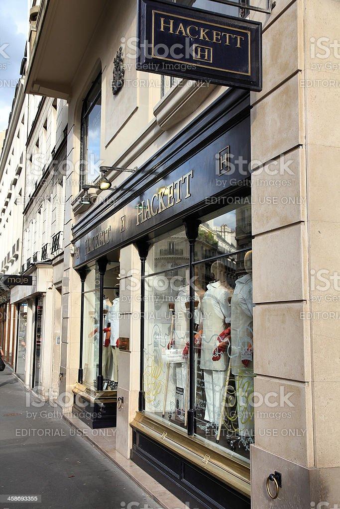 Fashion shopping in Paris royalty-free stock photo