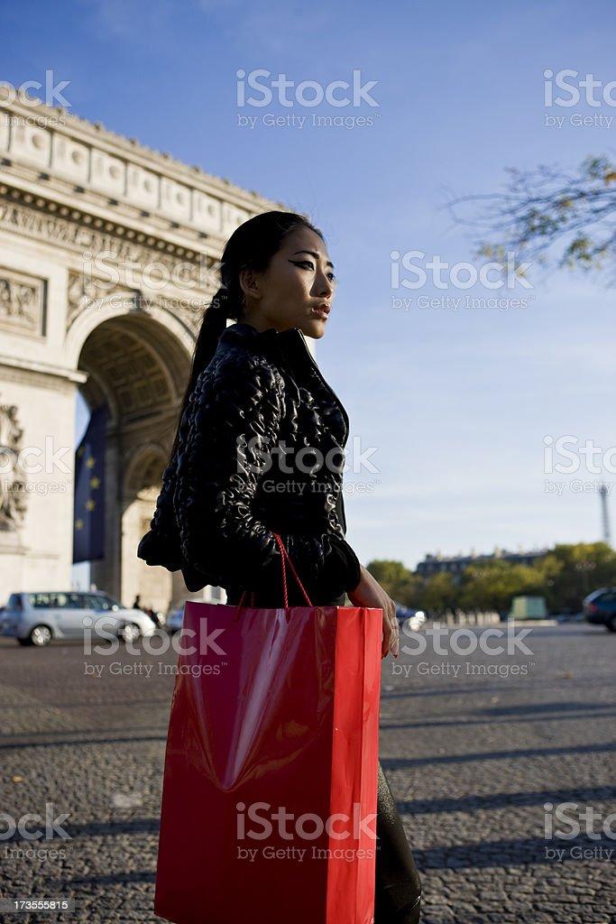 Fashion shopping Paris royalty-free stock photo