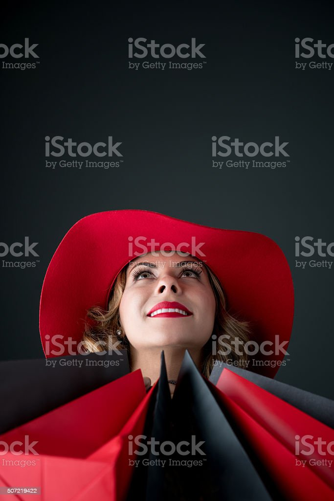 Fashion shopping woman stock photo