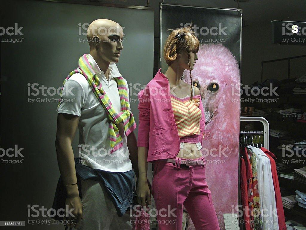 Fashion shop-window royalty-free stock photo